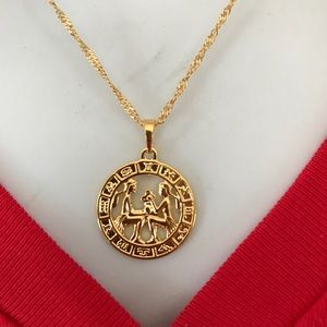 7a86d9917 Jewelry - Brand new Gemini Zodiac Sign 18K GF Necklace